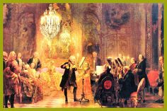 "Adolph Von Menzel ""A Flute Concert of Frederick the Great at Sanssouci"" was painted in oil on canvas; it was done in 1852 Adolf Von Menzel, Frederick The Great, Albert Bierstadt, Caspar David Friedrich, Manet, Art Prints For Sale, Famous Artists, Figure Painting, Musical"