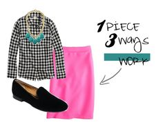 awesome work outfit, button down, pencil skirt and loafer