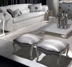 White And Silver Living Room Glamouros Home Decor