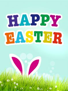 Easter Bunny Card: Wish your family and friends a happy Easter by sending Easter cards. Sending Easter greetings makes the holiday even more special and enjoyable. This cute Easter card with Easter bunny's ears will make everyone smile. Happy Easter Quotes, Happy Easter Wishes, Happy Easter Greetings, Happy Easter Day, Easter Greetings Messages, Birthday Greeting Cards, Birthday Greetings, Card Birthday, Easter Bunny Images