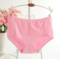 Plus Size LeafMeiry Underwear Women Cotton Briefs Everyday Women Panties With Sexy Lace Plus Size Underwear, Girls In Panties, Black Khakis, Spandex, Plus Size Women, Womens Fashion, Sexy, Briefs, Products
