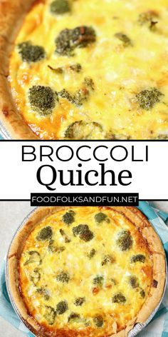 This easy vegetarian broccoli quiche recipe costs just $4.48 to make, and it has a creamy smooth custard interior, and it's filled to the brim with broccoli and sharp white cheddar cheese. Quiche Recipes, Potluck Recipes, Bacon Recipes, Appetizer Recipes, Cookie Recipes, Breakfast Recipes, Dessert Recipes, Slow Cooker Recipes, Crockpot Recipes