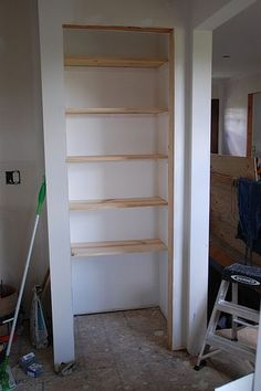 17 Shelves In Place Wire Pantry Diy Closet Wooden