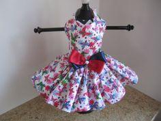 Dog Dress XS Summer Butterflies Parade  By by NinasCoutureCloset, $30.00