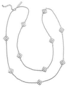 KENDRA SCOTT - Nemera Long Necklace in Silver