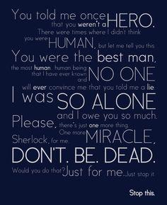 Watson's speech... *sobs*