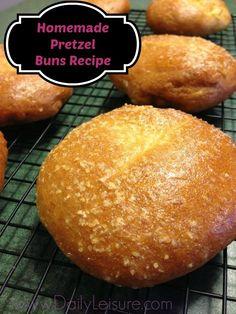 Easy Pretzel Bun Recipe -- So I can make Betzelberger's Pretzelburgers :)