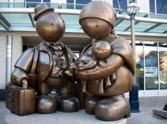 Tom Otterness sculptures.  This makes me smile.