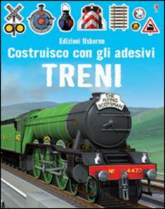 #Treni. costruisco con gli adesivi edizione Usborne publishing  ad Euro 6.38 in #Usborne publishing #Libri per ragazzi