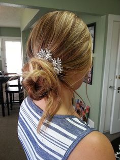 Wedding Hair Comb with Pearls Crystals and by OWDJewelry on Etsy