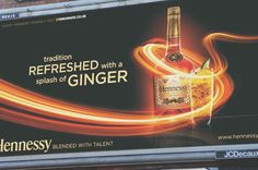Hennessy billboard designed by creative agency TimeZoneOne