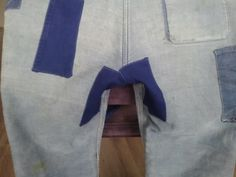 Back/crotchpatch 2 and 3 at 1920´s French workpant.