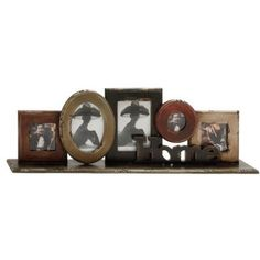 Decmode Wood Table Photo Frame, Multi Color, Multicolor