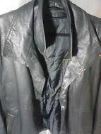Men's Black Leather Jacket -Large