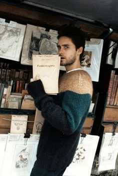 Jared Leto in a cuddly sweater is all that I need right now...