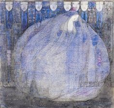"Sleeping Princess II  by Margaret MacDonald  14/""  Paper Print Repro"