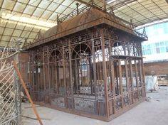 wrought iron pavilion | Cast Iron Gazebo (Pavilion) (TR-020)