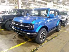"""Bronco Battalion USA on Instagram: """"Finally!! Velocity Blue!! 🤩 Outer Banks 2-door! 💙💙 💙 📸 via Bronco 😇 👉🏻 come along with us! @bronco_battalion_usa @bronco_girl_usa…"""" Ford Bronco, Broncos, Banks, Doors, Usa, Blue, Instagram, Ford Bronco Lifted, Couches"""