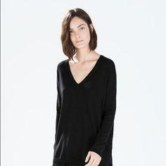 Nwot V Neck Sweater Dress