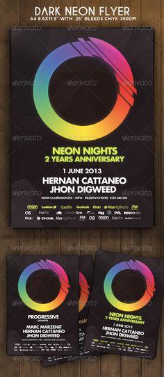 Dark Neon Flyer - Clubs & Parties Events