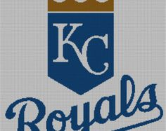 Kansas City Royals Logo -- Counted Cross Stitch Chart Patterns, 3 sizes!