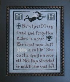 Witchy Cross Stitch