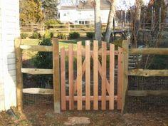 Split Rail Wood Fence Gate