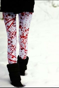 Blood splattered leggings
