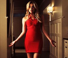"""Hanna Marin is by far one of the best dressed fictional characters on television. Over the past six years, we have seen her go from popular """"it"""" girl, to rocker chic, to glam goddess, and now to p. Ashley Benson, Pretty Little Liars Hanna, Pretty Girls, Hanna Marin Outfits, Liar Game, Gifs, Fashion Tv, Rocker Chic, Lady In Red"""