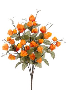 113 best faux real images on pinterest silk flowers artificial artificial chinese lantern bush silk fall floral stems afloral mightylinksfo
