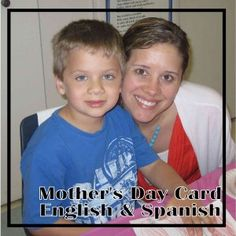 Mother's Day Cards in English & Spanish!  Great last minute mother's day idea for your classroom.  Free from www.thecurriculumcorner.com.