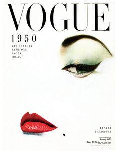 La couverture de Vogue janvier 1950 - Poster de la couverture de Vogue - papier-affiche, autocollant ou toile imprimer Pour les commandes en vrac
