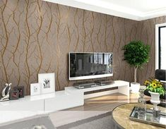 Modern Tree Branch Wallpaper, Available in 7 Colors, Priced Per Roll 3 – Maughon's Tree Branch Wallpaper, 3d Wallpaper For Walls, Sound Absorbing, Plant Fibres, Adhesive Wallpaper, Paper Houses, Sound Proofing, Sofa, Tree Branches