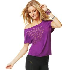 Awesome-tron Boxy Top | Brand New ZumbaWear Gold collection save 10% with affiliate code 10SALE on zumba.com  http://www.zumba.com/user/affiliates/affiliate-shop/?affil=10sale