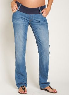 Esprit - Over Bump Straight Leg Jeans in Dark Wash | In, Legs and Dark