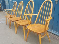 A personal favourite from my Etsy shop https://www.etsy.com/uk/listing/270635809/set-of-four-1960s-ercol-windsor-quaker