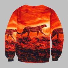 walking 3D leopard sweatshirt for teen XXL