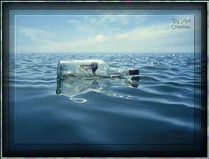 botella en el mar
