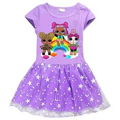 Girls Kids L.L Lol Surprise Doll Short Sleeve Dress Summer Casual Dresses Baby Girl Toys, Toys For Girls, Casual Party Dresses, Dress Casual, Usa Baby, Moda Chic, Lol Dolls, Kids Shorts, Boutique Dresses