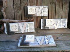 Valentine Love Wood Signs DIY Repurposed Upcycled 20.00 Ruler