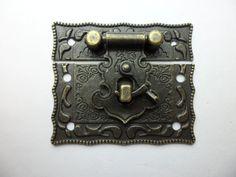 51mmx43mm Antique Brass Jewelry Box Latch/hasp Catch/ Small Box Hardware