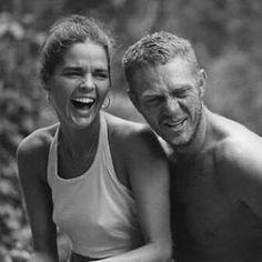 Steve McQueen and Ali Macgraw, risos #instagood #instadaily #risos #stevemacqueen #alimacgraw