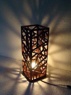 INU design Nowoczesna lampa drewniana, handmade by Kony&Rołs