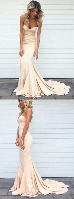prom dresses,Sexy Prom Dress,Pink Mermaid Prom Dress Cheap
