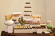 dessert bar--little pies, cupcakes, tiny mousse, truffles, bitty sticky toffee puddings....