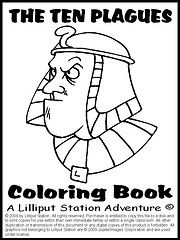 the ten plagues coloring book lilliput station currclick