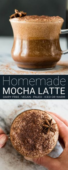 This dairy-free mocha latte recipe tastes so amazing you will feel like you are drinking a high-end latte from a fancy coffee shop...but in the comfort of your own home and for afraction of the price! It's easy to make, healthy (paleo, vegan, with NO refined sugar) and out-of-this-world delicious! #dairyfree #mocha #latte #recipe #paleo #vegan #healthy #mochalatte #vitamix  via @joyfoodsunshine