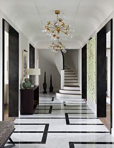 Jena – a haute couture apartment Luxury Home Decor, Luxury Homes, Floor Design, House Design, Home Interior Design, Interior Decorating, Plafond Design, Floor Patterns, Marble Floor