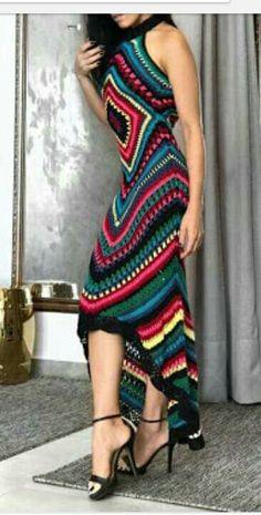56 Ideas for crochet summer blanket pattern granny squares Crochet Summer Dresses, Crochet Skirts, Crochet Clothes, Crochet Kids Scarf, Crochet Yarn, Knit Crochet, Crochet Cardigan, Hippie Crochet, Mode Crochet