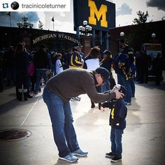 Show us how you hail! Tag us in photos of your team in maize and blue! #GoBlue University of Michigan Apparel + Custom Printing in Ann Arbor, MI